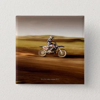 Motocross Rider 2 15 Cm Square Badge