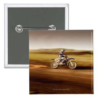 Motocross Rider 2 15 Cm Square Badge