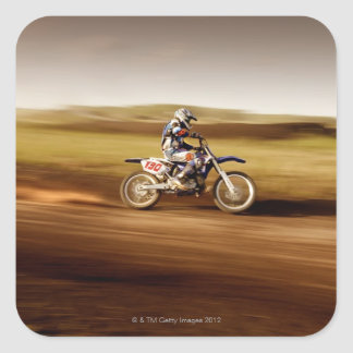 Motocross Rider 2 Square Sticker