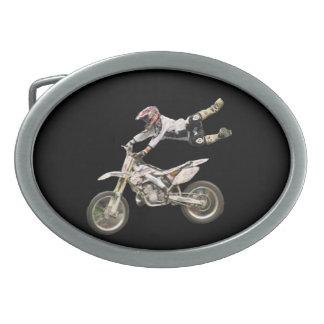 motocross rider belt buckle