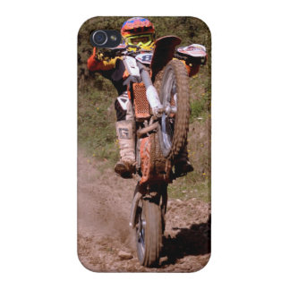 Motocross rider popping a wheelie iphone case iPhone 4/4S covers