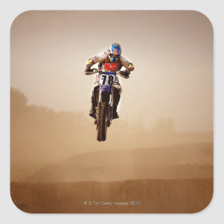 Motocross Rider Square Sticker