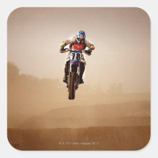 Motocross Rider Square Sticker