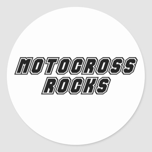 Motocross Rocks Sticker