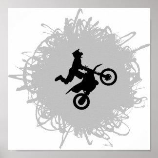 Motocross Scribble Style Poster