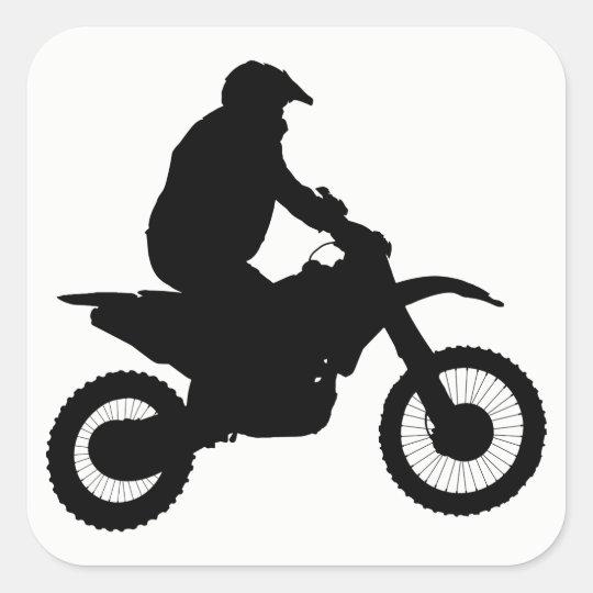 Motocross Silhouette Square Sticker