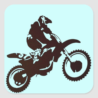 Motocross Square Sticker