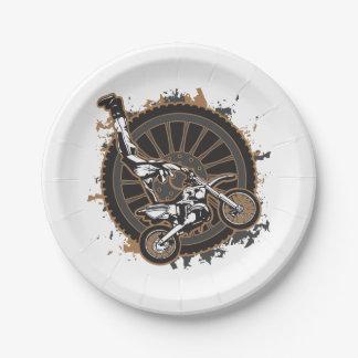 Motocross Stunt Paper Plate