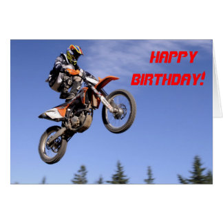 Motocross tricks birthday card