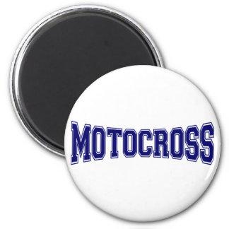 Motocross University Style 6 Cm Round Magnet