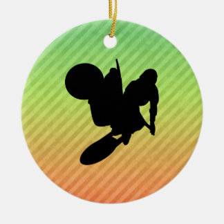 Motocross Whip Christmas Ornament