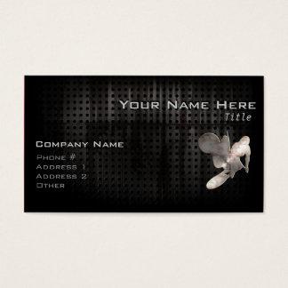 Motocross Whip; Cool Black Business Card