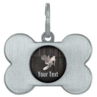 Motocross Whip; Cool Black Pet Tag