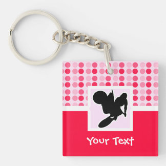 Motocross Whip Double-Sided Square Acrylic Key Ring