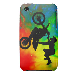 Motocrossing in a Solar Flareup iPhone 3 Cases