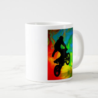 Motocrossing in a Solar Meltdown Jumbo Mug