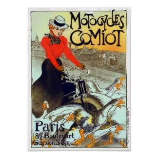 Motocycles Comiot French Vintage Poster