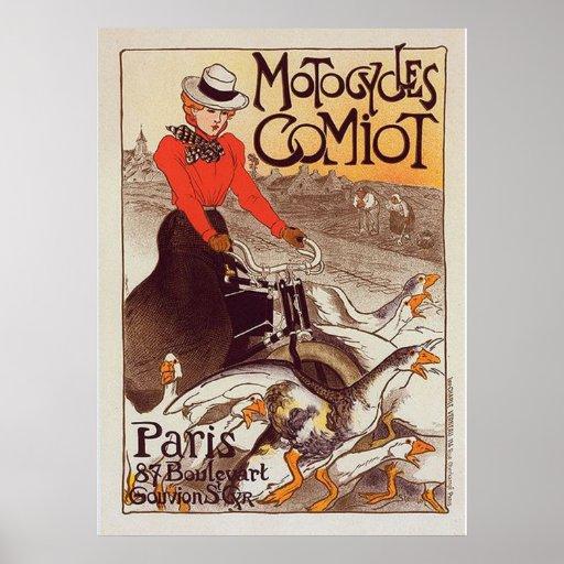 Motocycles Comiot - Paris Vintage Poster