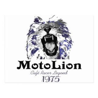 MotoLion Cafe Racer Legend Postcard