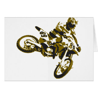 motor bike cross-country race card