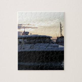 Motor Boat At Dusk Jigsaw Puzzle