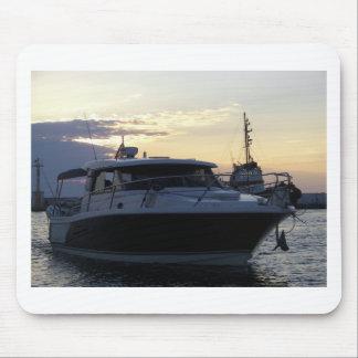 Motor Boat At Dusk Mouse Mat