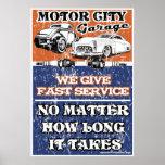 MOTOR CITY GARAGE 2 PRINT