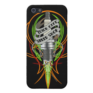 Motor City Speed Shop Sparkplug iphone Case iPhone 5 Cover