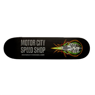 Motor City Speed Shop Sparkplug Skateboard
