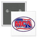 MOTOR CLUB AMERICA - MCA  40for80.com 15 Cm Square Badge