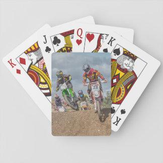 Motor cross playing cards