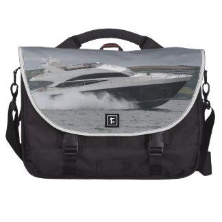 Motor cruiser at speed laptop messenger bag