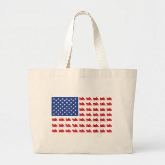 Motor-Cycle-Flag-Cruiser Canvas Bags