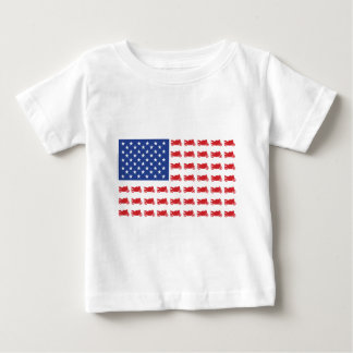 Motor-Cycle-Flag-Sport Baby T-Shirt