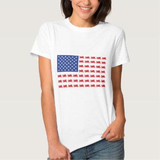 Motor-Cycle-Flag-Sport T Shirt