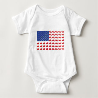 Motor-Cycle-Flag-WING Baby Bodysuit
