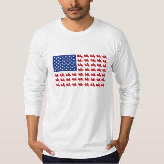 Motor-Cycle-Flag-WING T-Shirt