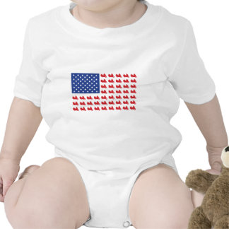 Motor-Cycle-Flag-WING Baby Bodysuits