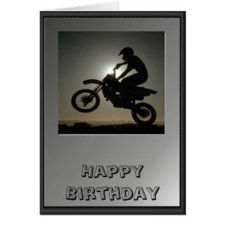 Motor cycle tricks greeting card
