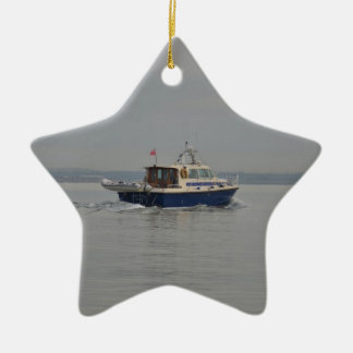 Motor Launch In The Solent Christmas Ornament