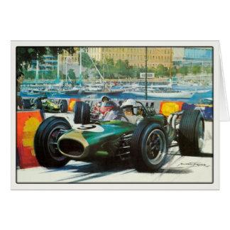 Motor Racing Greetings In Vintage Style Greeting Card