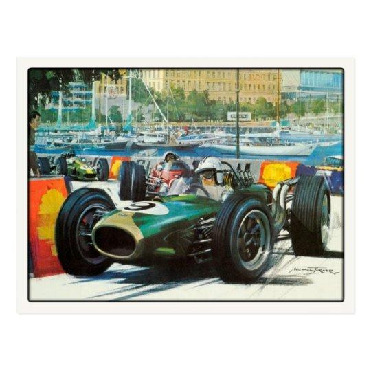 Motor Racing Postcard In Vintage Style