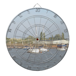 Motor Sailer Misbehave Dartboard With Darts