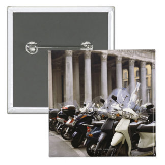 Motor scooters parked outside the Pantheon in 15 Cm Square Badge