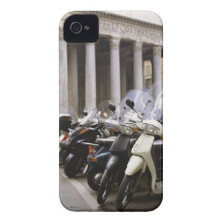 Motor scooters parked outside the Pantheon in iPhone 4 Cover