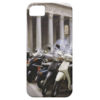Motor scooters parked outside the Pantheon in iPhone 5 Case