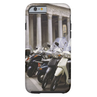 Motor scooters parked outside the Pantheon in Tough iPhone 6 Case
