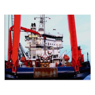 Motor vessel Fennica Edinburgh Leith docks Post Card