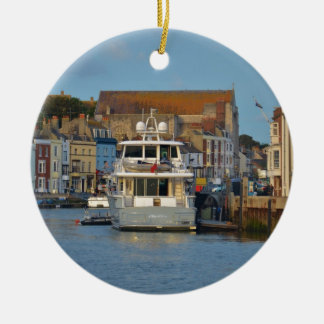 Motor Yacht In Weymouth Christmas Ornament