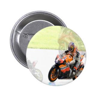 Motorbike 6 Cm Round Badge